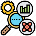 information, research, science, searching, statistic icon