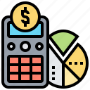 accounting, calculator, finance, infographic, statistic icon