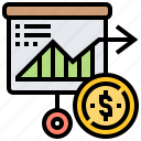 economy, financial, market, stock, trade icon