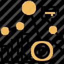 analysis, cause, failure, problem, solution icon