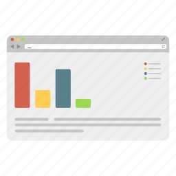 browser, chart, graphs, information, internet, safari, statistic icon