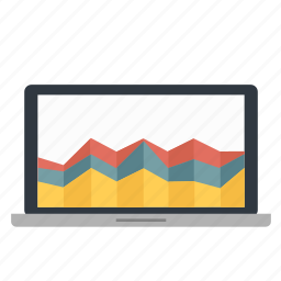 chart, graph, grow, information, macbook, statistic, stock icon