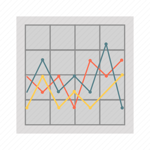 bussines, finance, graph, statistic board, stock icon