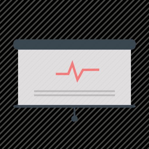 board, bussines, chart, presentation, stock icon