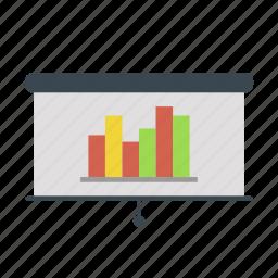board, chart, graph, presentation, stock icon