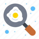 breakfast, cooking, egg, fry, pan