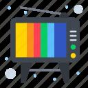 retro, television, tv