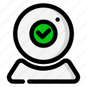 access, allow, allowed, check mark, webcam