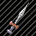 ancient, antique, battle, cartoon, medieval, object, sword