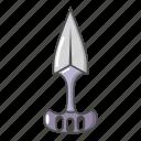 blade, cartoon, dagger, knife, ninja, object, sharp