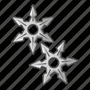 cartoon, ninja, object, sharp, star, stars, throwing