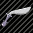 blade, cartoon, dagger, knife, military, object, sharp