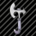 ax, axe, cartoon, heavy, metal, object, tool