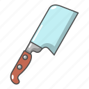blade, cartoon, knife, meat, object, sharp, weapon
