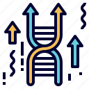 dna, gene, genetics, genome, gmo, modification, science icon