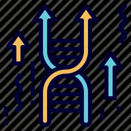 dna, gene, genetics, genome, gmo, modification, science icon