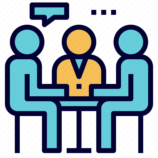 advice, discussion, group, hr, interview, meeting, recruitment icon