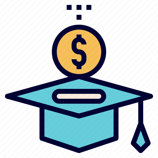 debt, education, invest, loan, student icon