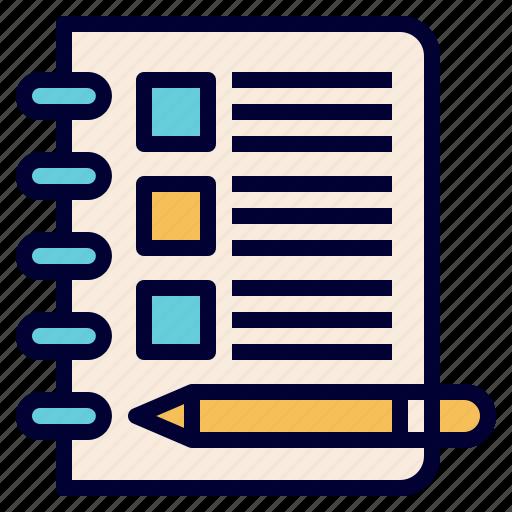 box, check, checklist, exam, list, note, test icon