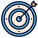 archery, arrow, focus, mission, objective, shot, target icon