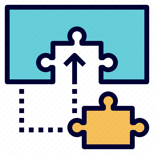 missing, piece, provider, puzzle, solution icon