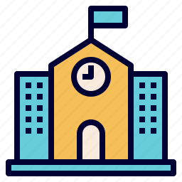 building, education, elementary, high, primary, school icon