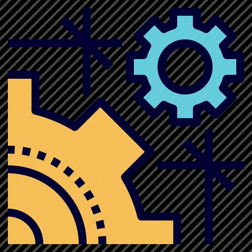 construction, education, engineering, gear, stem icon