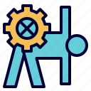 engineering, exercise, practice, training icon