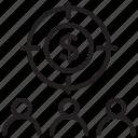 investors, shareholders, stock exchange, stock market, stockholders icon