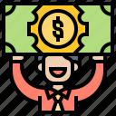 cash, dividend, money, payment, profit icon