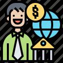 economic, gdp, gross, monetary, product icon