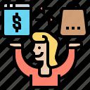 treading, purchase, online, internet, exchange icon