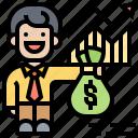 account, profit, financial, margin, broker icon