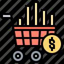 price, treading, market, stock, shopping icon