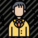 accountant, budget, businessman, investor, value icon
