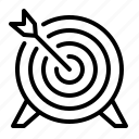 bullseye, arrow, target icon