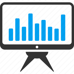 analytics, chart, graph, monitoring, statistics, stock market icon