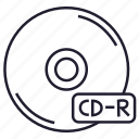 cd, cd-r, compact disk, data, disk, memory, storage icon