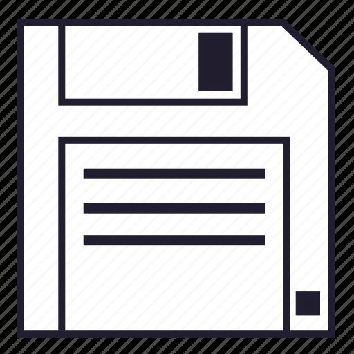 data, diskette, file, floppy, floppy disk, memory, storage icon