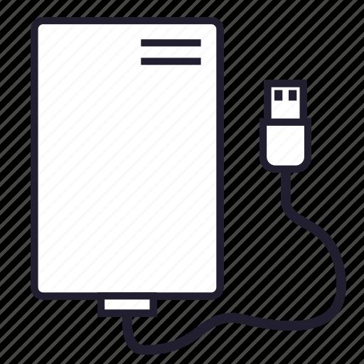 data, disk, external storage, hoarder, information, memory, storage icon
