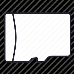 data, digital memory card, file, memory, micro sd, storage icon