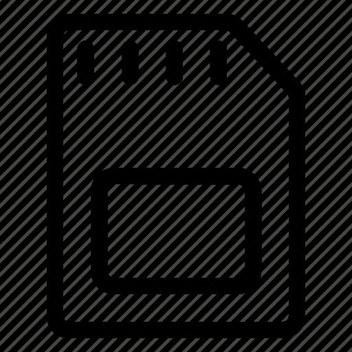 file, memory, micro sd, sd card, storage icon