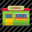 florist, flower, front, object, shop, store