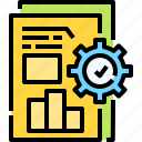 bar, business, chart, gear, growth, setting, statistics icon