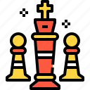 chess, gaming, management, strategy, tower icon