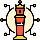 chess, gaming, management, plan, strategy, tower icon