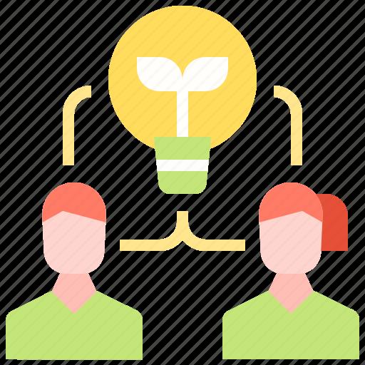brainstorm, business, idea, strategy, team, user icon
