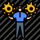 avatar, manage, management, strategic, strategy icon