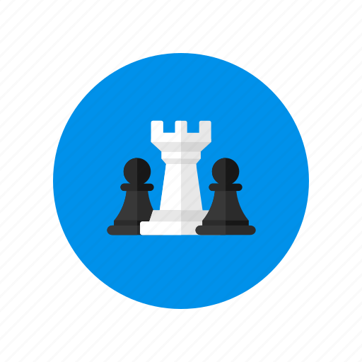 chess, pawn, queen, strategy icon