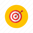 arrow, dart, purpose, scope, strategy icon